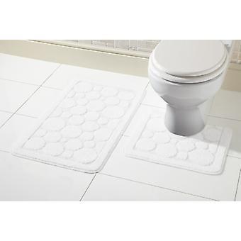 Alfombra de baño Cali conjunto 2 pieza antideslizante goma Pedestal inodoro Mat alfombra de baño