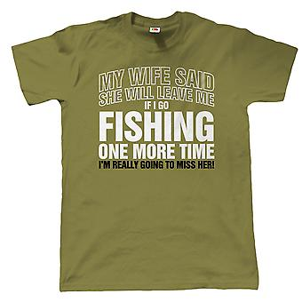 Vectorbomb, If I Go Fishing Again, Mens Funny Angling T Shirt (S to 5XL)
