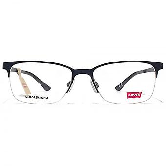 Levis Half Rim Square Glasses In Blue