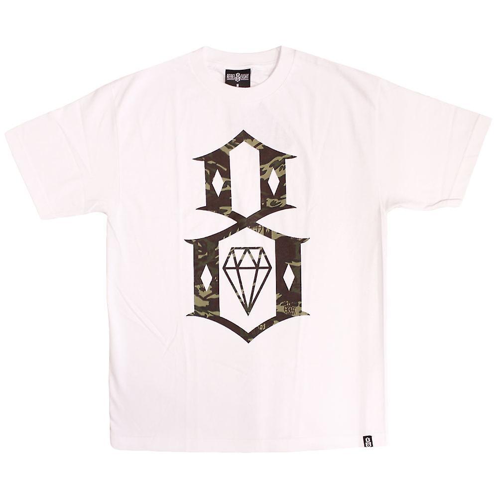 Rebel8 Herbst Camo Logo T-shirt White