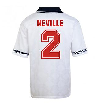 Score Draw England World Cup 1990 Home Shirt (Neville 2)
