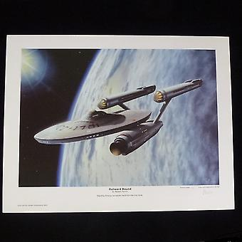 Robert Tomlin Star Trek - Original Series - Outward Bound Print By Artist Robert Tomlin