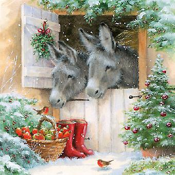 Ambiente Santa's Donkeys Napkins