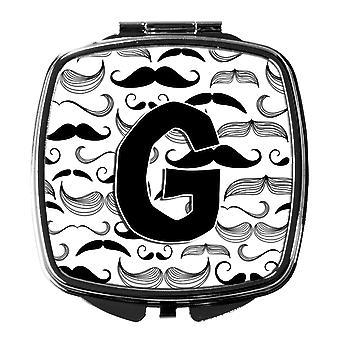 Carolines Treasures  CJ2009-GSCM Letter G Moustache Initial Compact Mirror