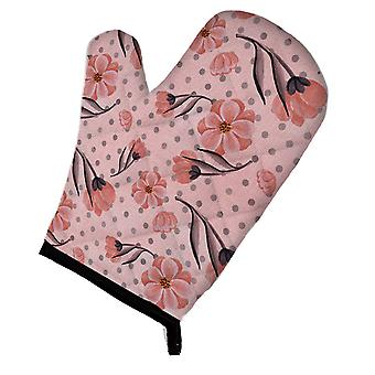 Carolines Treasures  BB7499OVMT Pink Flowers and Polka Dots Oven Mitt