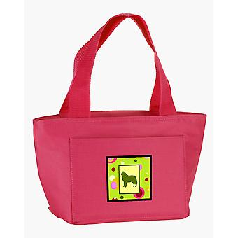 Lime Green Dots Bernese Mountain Dog Lunch Bag