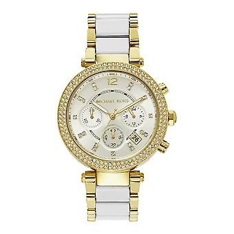 Michael Kors Watches Mk6119 Michael Kors White&gold Ladies Watch