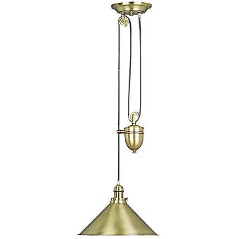 PROVENCE AB French style rise and fall ceiling Light, Antique Brass