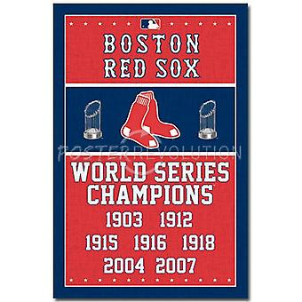 Boston Red Sox Champions Poster Poster Print