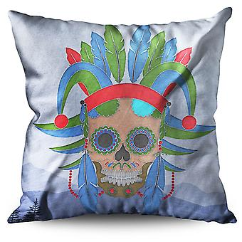 Native Metal Death Horror Linen Cushion Native Metal Death Horror | Wellcoda