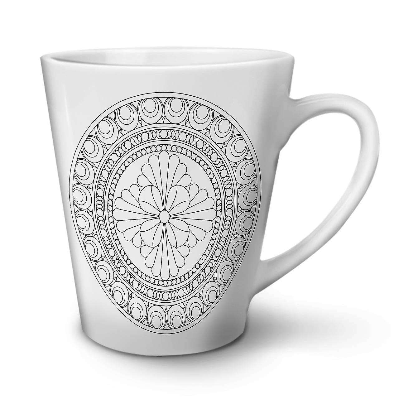 Blanc OzWellcoda En Nouvelle De Tasse Latte Café Thé Mandala Céramique 12 wP80Okn