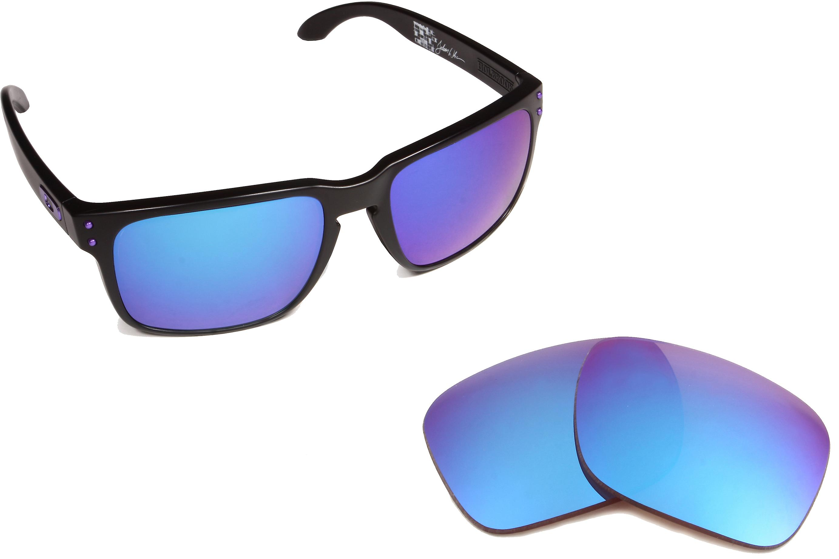 Best SEEK Replacement Lenses for Oakley HOLBROOK Brown Blue Mirror