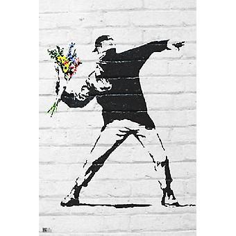 Banksy Flower Bomber Poster Poster Print