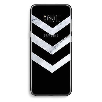 Samsung Galaxy S8 gjennomsiktig sak (myk) - marmor piler
