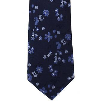 Michelsons of London Spring Floral Silk Tie - Blue