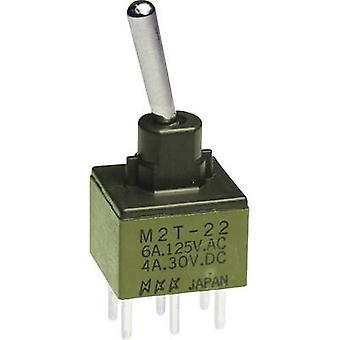 Toggle switch 250 V AC 3 A 2 x On/On NKK Switches