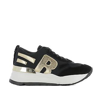 RUCO line women's 4000MELOGNERO black cloth of sneakers