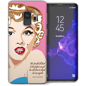 Samsung Galaxy S9 Marilyn Monroe Regrets Quote TPU Gel Case – Pink
