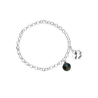 Bracelet Femme Perle de Tahiti noire et Etoile Argent 925/1000