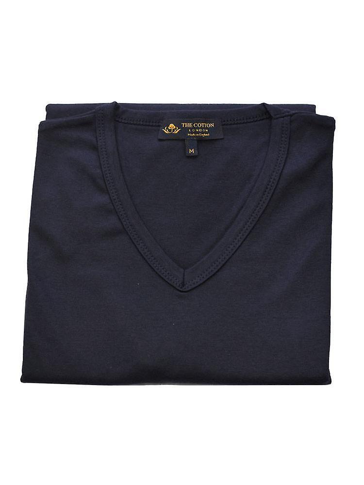 Long Sleeve V Neck - Navy
