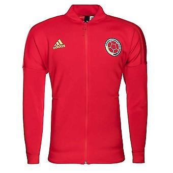 2018-2019 Colombia Adidas ZNE Knitted Anthem Jacket (Red)