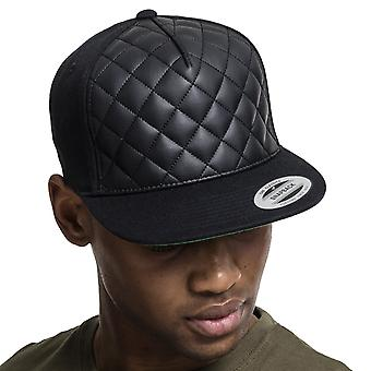 Flexfit diamond quilted Snapback Cap - Black