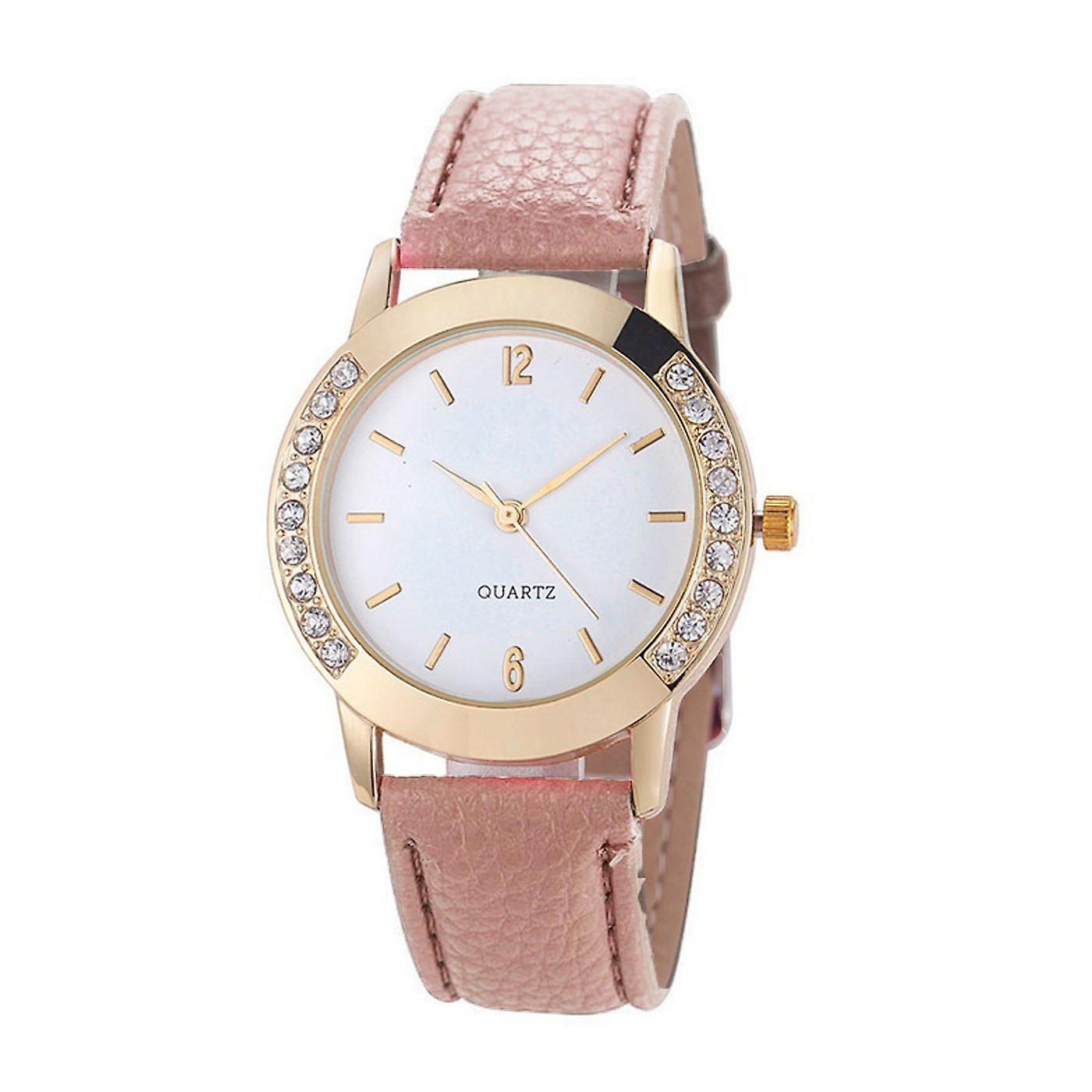 Gold Geneva Beige Watch Ladies Girls Fashion Watches