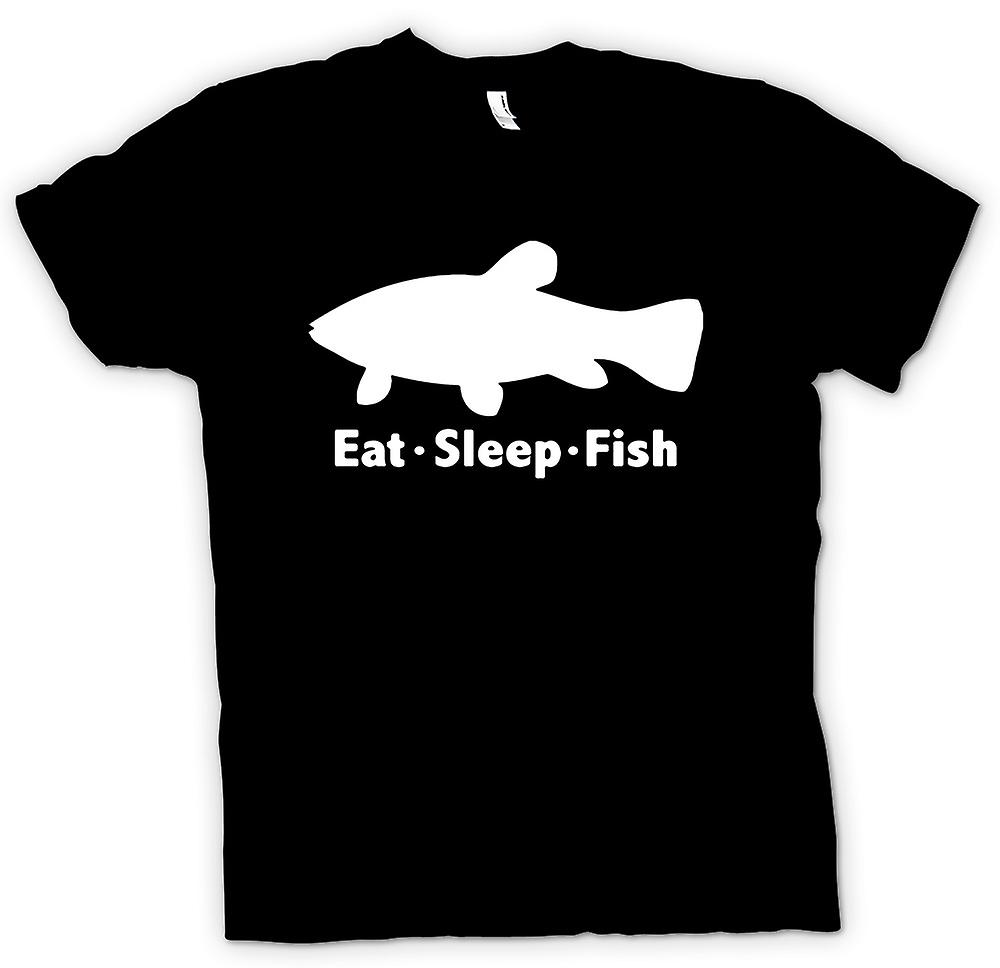 Mens T-shirt - Eat Sleep Fish - Funny