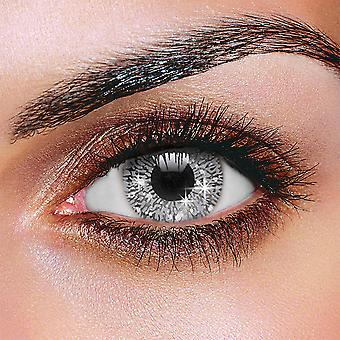 Glimmer Silver Contact Lenses (Pair)