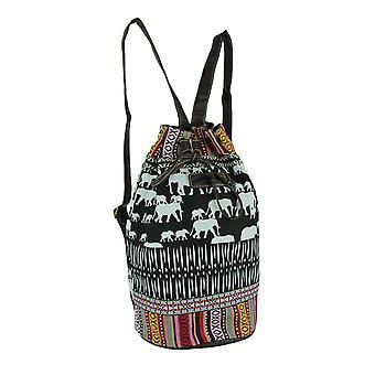 Unionbay Tribal Stripe Boho éléphants seau sac à dos