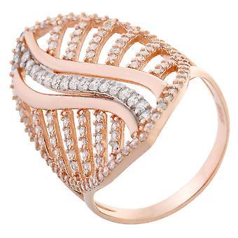 Orphelia argento 925 anello Bicoloror zirconio ZR-7003