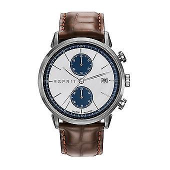 Esprit Herren Uhr Armbanduhr Chronograph Leder ES109181001