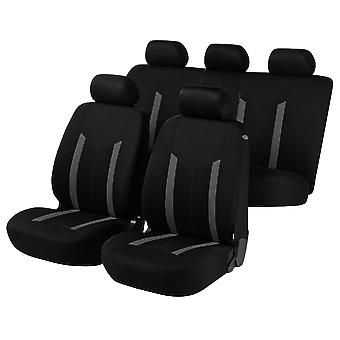 Hastings Car Seat Covers - Grey & Black For Mercedes E-CLASS Estate 2003-2009