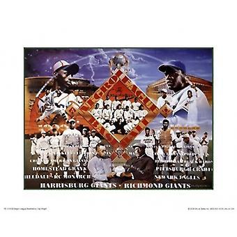 Negro League Baseball (Mini) Poster Print por Clay Wright (10 x 8)