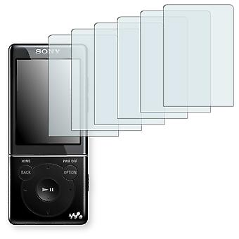 Sony NWZ-E574 display protector - Golebo Semimatt protector (deliberately smaller than the display, as this is arched)