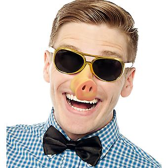 Brille mit Schweinenase Elvis Pig Scherzartikel Accessoire