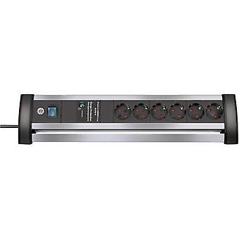 Brennenstuhl 1395000416 Surge protection socket strip 6x Aluminium , Black PG connector