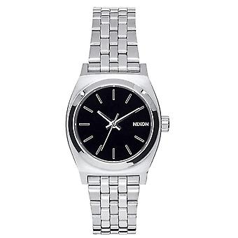 Nixon The Small Time Teller Watch - Black/Silver