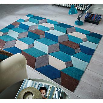 Oändlig räckvidd Teal rektangel mattor Funky mattor