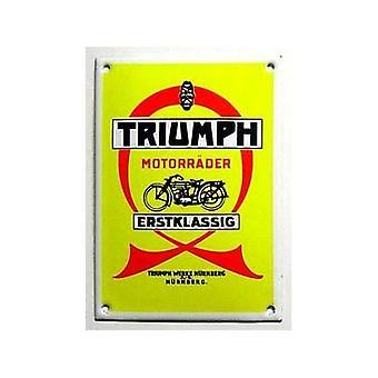 Triumph Nurmberg Vitreous Enamel Steel Badge (14X10)