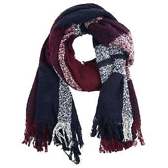 s.Oliver vrouwen Bouclé sjaal met ingecheckte patroon 38.899.91.3643