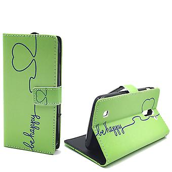 Mobile phone case pouch for mobile ARCHOS 50 c neon be happy Green