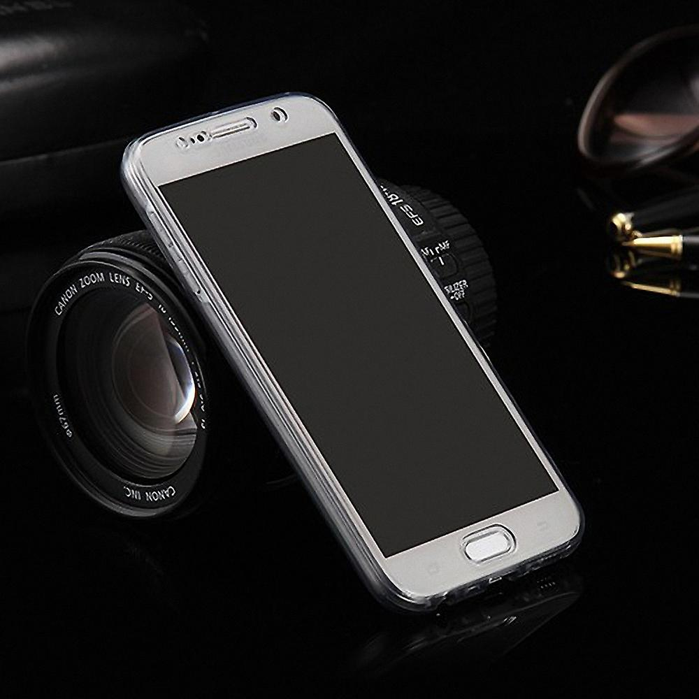 buy online f8f65 f68d3 Crystal case cover for Huawei P10 Lite grey frame full body