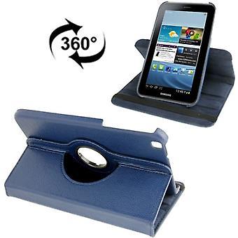 Schutzhülle Tablettasche (Flip Quer) für Samsung Galaxy Tab 3 8.0 T3110 T3100 Dunkelblau
