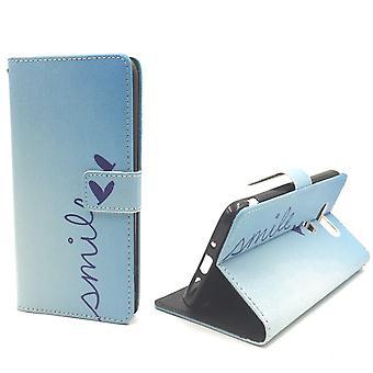 Telefon komórkowy etui na telefon komórkowy LG G5 napis uśmiech Blau
