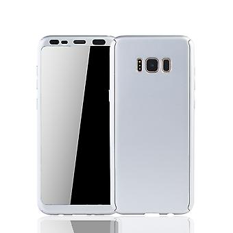 Samsung Galaxy S8 mobile housing Schutzcase full cover 360 display protection foil silver