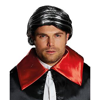 Herman Mr. Black, wig with ponytail accessory Carnival Halloween