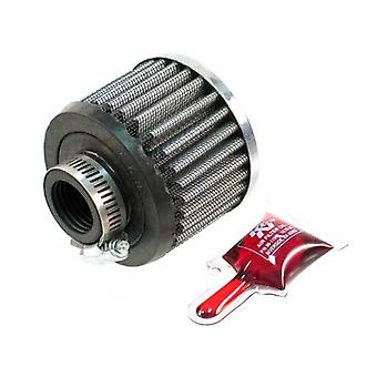 K&N 62-1420 Vent Air Filter / Breather: Vent Air Filter/ Breather; 1 in (25 mm) Flange ID; 2.25 in (57 mm) Height; 3 in