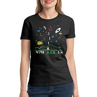 Intellivision Astrosmash Classic Games Women's Black T-shirt