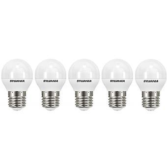5 x Sylvania ToLEDo Ball E27 V4 5.5W Homelight LED 470lm [Energy Class A+]